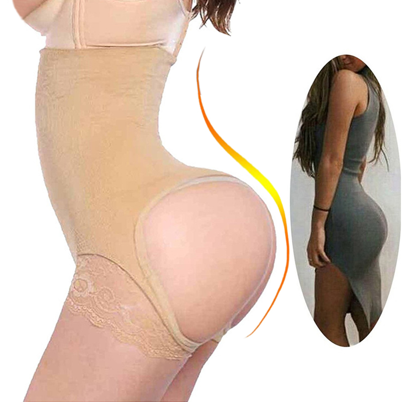 NINGMI Sexy Butt Lifter Control Panties Women Waist Trainer Body Shapers Pulling Underwear Slimming Pant Hip Push Up Brief Short
