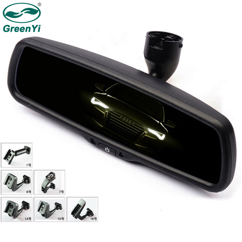 GreenYi Auto Dimming Rear View Mirror Monitor With Original Special Bracket Safer Driving For Toyota VW Renault Kia Hyundai