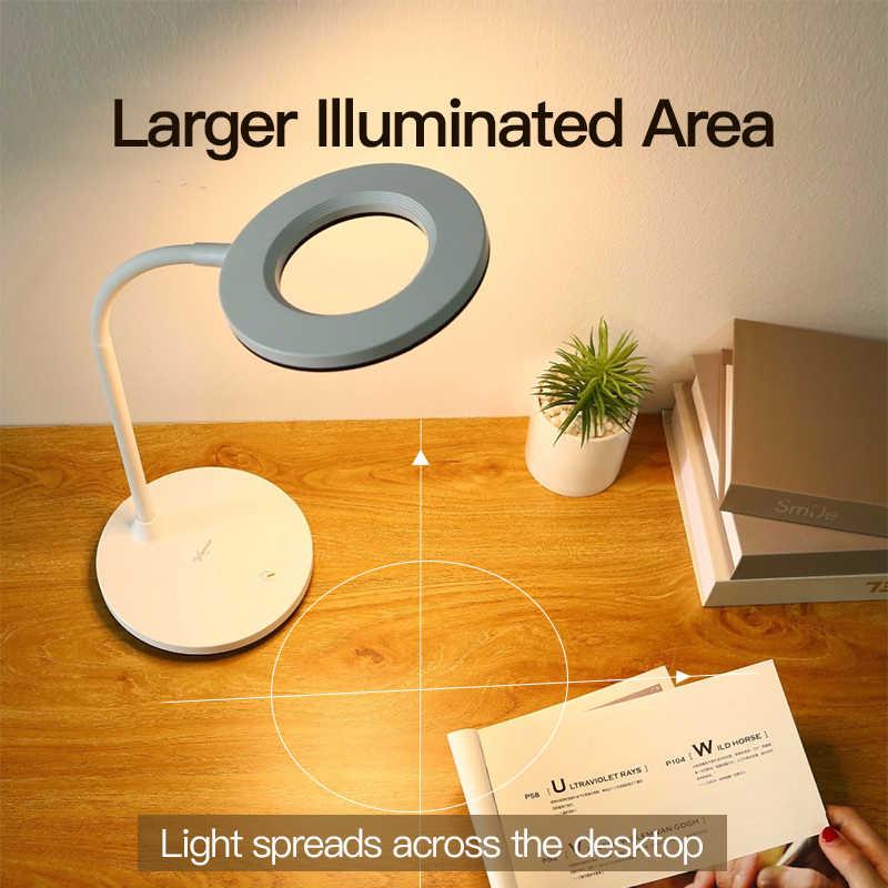 YAGE Luminaria настольная лампа Светодиодная настольная лампа настольная современная офисная USB Сенсорная Беспроводная лампе Flexo Bureau кабинет Rechargeab настольная лампа
