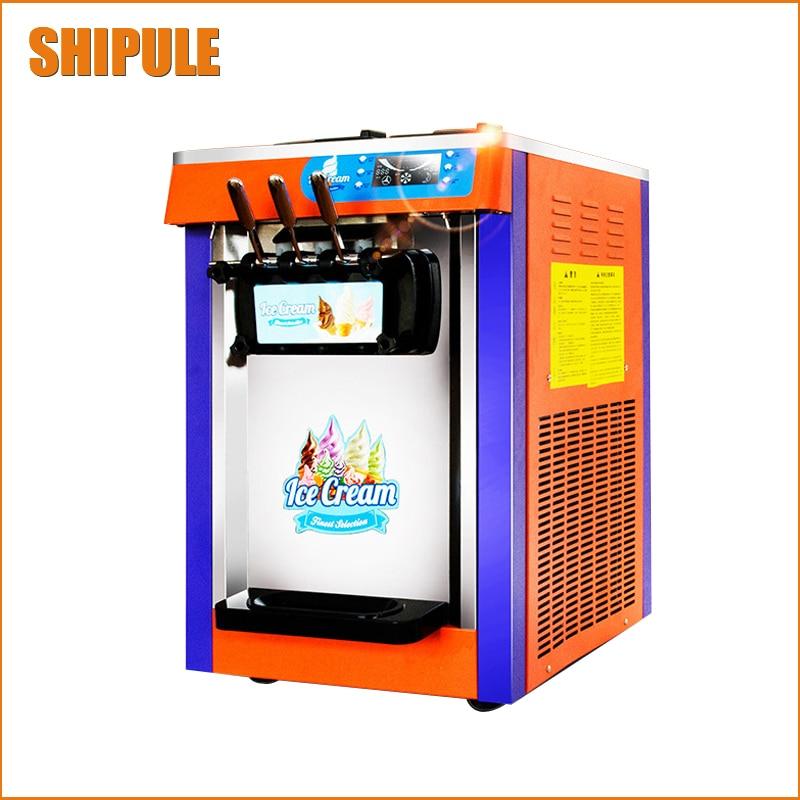 SHIPULE commercial Desktop Rainbow Ice Cream Machine / Soft Serve Ice Cream Machine 18-26L/H Hot Sale  недорого