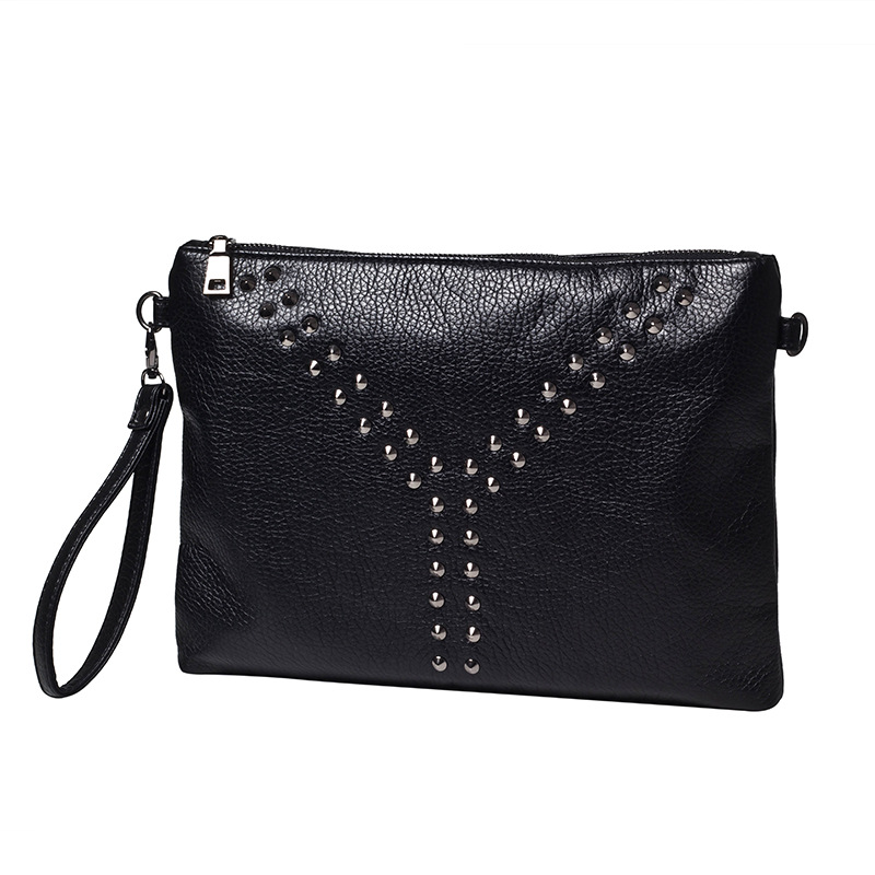 Оригинальный корейских мужчин мешок новые модные заклепки сумка iPad портфель для обувь для мужчин и женщин