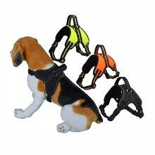 Dog Harness Breathable Safety Reflective Pets Dog Vest NO Pull Handle Control Adjustment Strap Harness For Medium Big Dog NZP62 цена