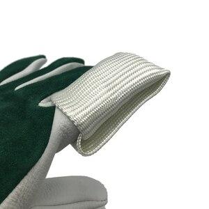 Image 3 - TIG guante de soldadura de fibra de vidrio, protector de escudo térmico, equipo de protección contra el calor