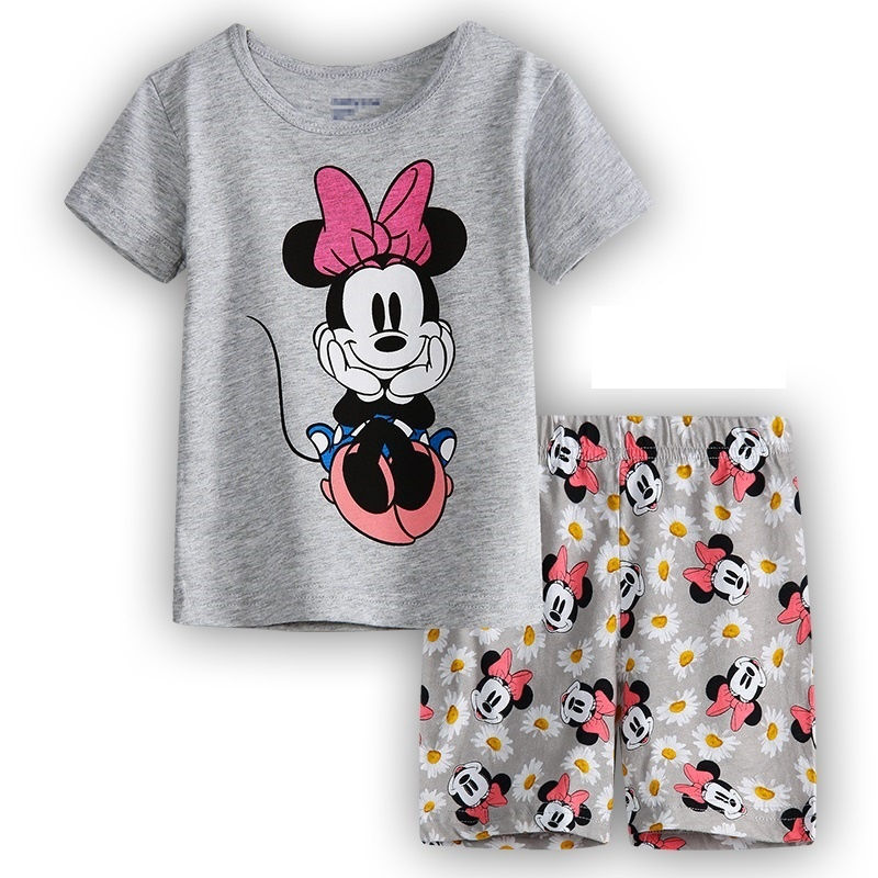 Summer Baby Kids Pajamas Set Children Short Sleeve Cotton Sleepwear Boys Cartoon Pyjamas Girls Cute Home Clothing Boys Nightwear