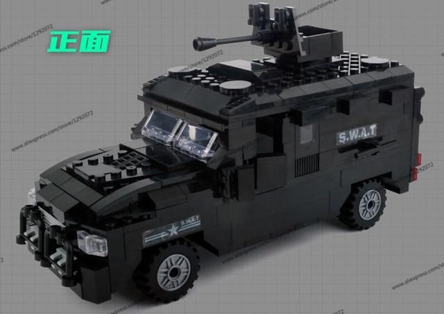 Kantor Polisi Swat Lapis Baja Mobil Jeep Militer Series6509 3d Model