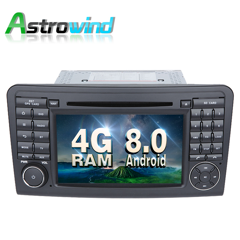 цена на 8 Core, 4G RAM, 32G ROM, Android 8.0 Car DVD Player GPS Navigation for Mercedes ML Class W164, ML350, For Mercedes GL Class X164