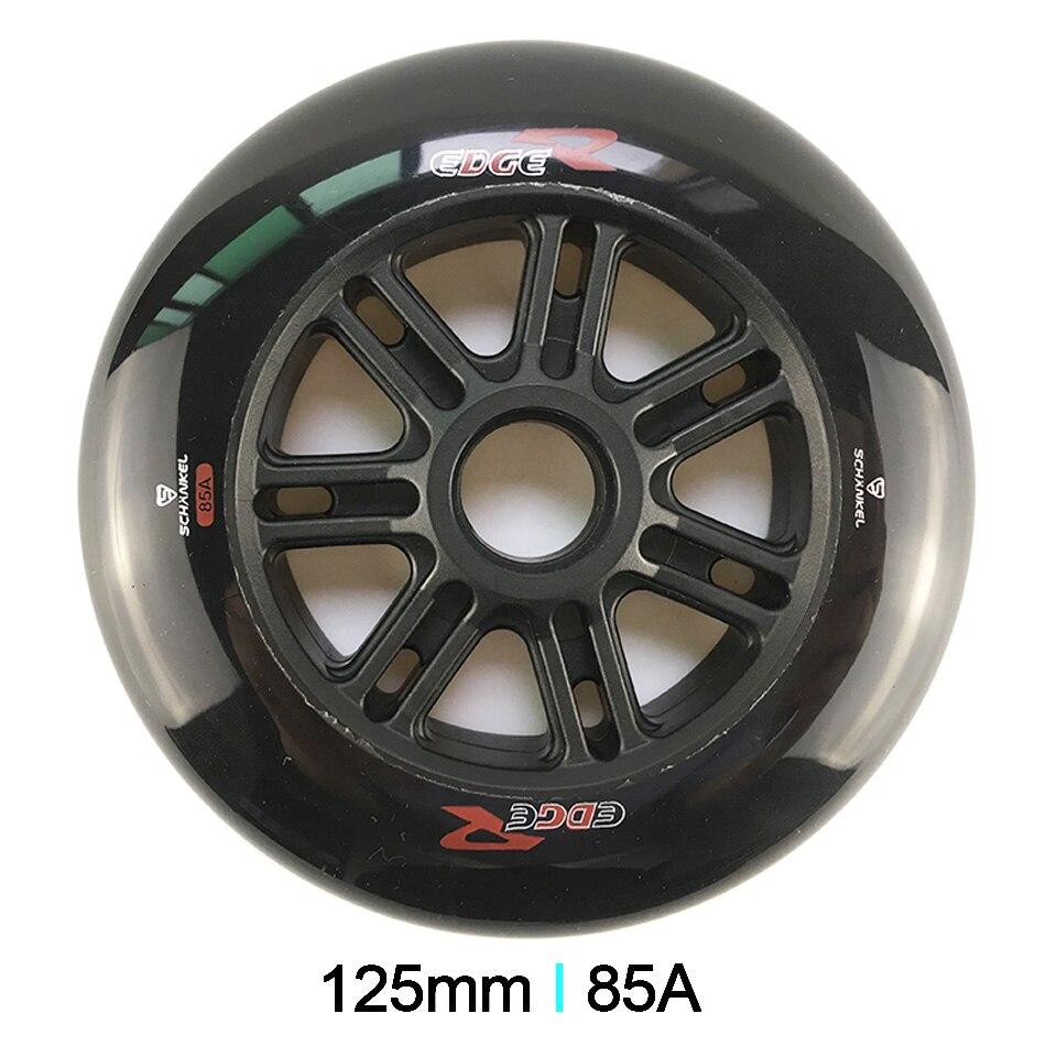 JEERKOOL Schankel Edger Skate Roller 85A Inline Speed Skates Wheel 6Pcs lot 125mm High Response Wheel