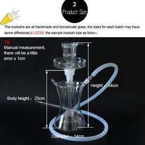 Image 5 - Glawaer маленький стеклянный кальян в русском стиле, огромный паровой кальян chicha, испаритель, наргилы, курительные водопроводные трубы со светодиодной подсветкой