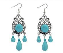 цена на New Modern Beautiful Charming New Earrings Bohemian Stone Maxi Hollow Waterdrop Stud Earrings for Women MX1244