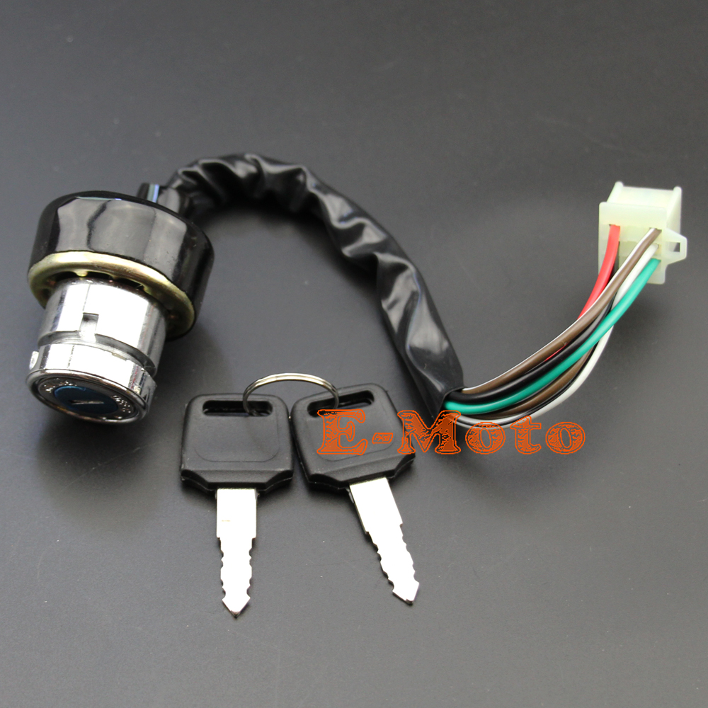 ignition key switch 6 wire for kazuma meerkat 50 falcon redcat 90 110 cc chinese atv [ 1000 x 1000 Pixel ]