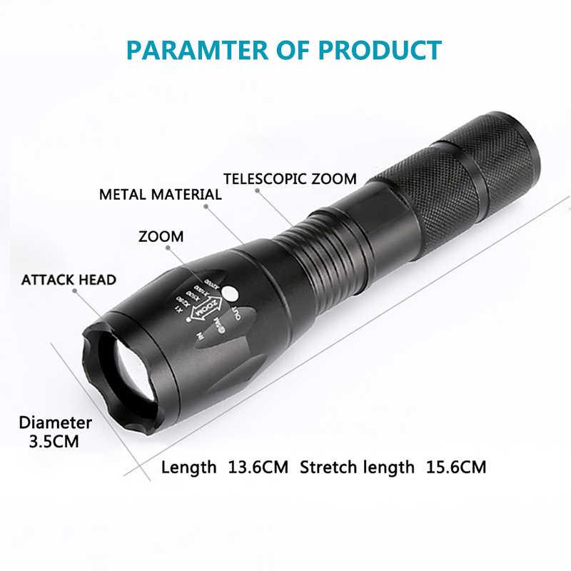 XM-L2 6000лм алюминиевый водонепроницаемый масштабируемый CREE светодиодный фонарик тактический фонарь для 18650 перезаряжаемой батареи или AAA