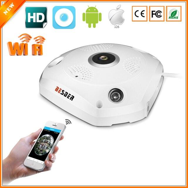 BESDER 3D VR Camera 360 Degree Panoramic IP Camera 960P 1.3MP FIsheye WIreless Wi-fi  Camera IP SD Card Slot Multi Viewing Mode