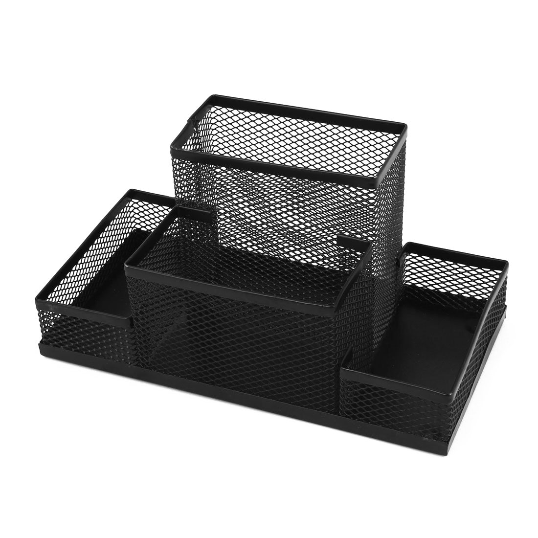 Multifunctional Black pen holder desk organizer Metal Desktop Storage Box Mesh Style Pen Pencil Ruler Holder cute cat pen holders multifunctional storage wooden cosmetic storage box memo box penholder gift office organizer school supplie
