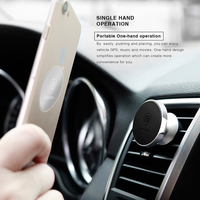 Baseus Magnetic Car Holder for iPhone Samsung Air Vent Mount Mobile Phone Holder Stand 360 Degree Rataion GPS Car Phone Holder 1