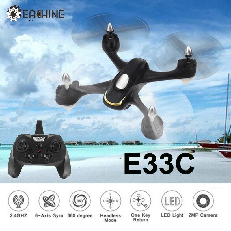 Eachine E33C 2,4G 6CH с 2MP HD Камера Headless режим светодио дный ночной полет Радиоуправляемый Дрон Quadcopter Вертолет игрушка RTF VS E33 E33W