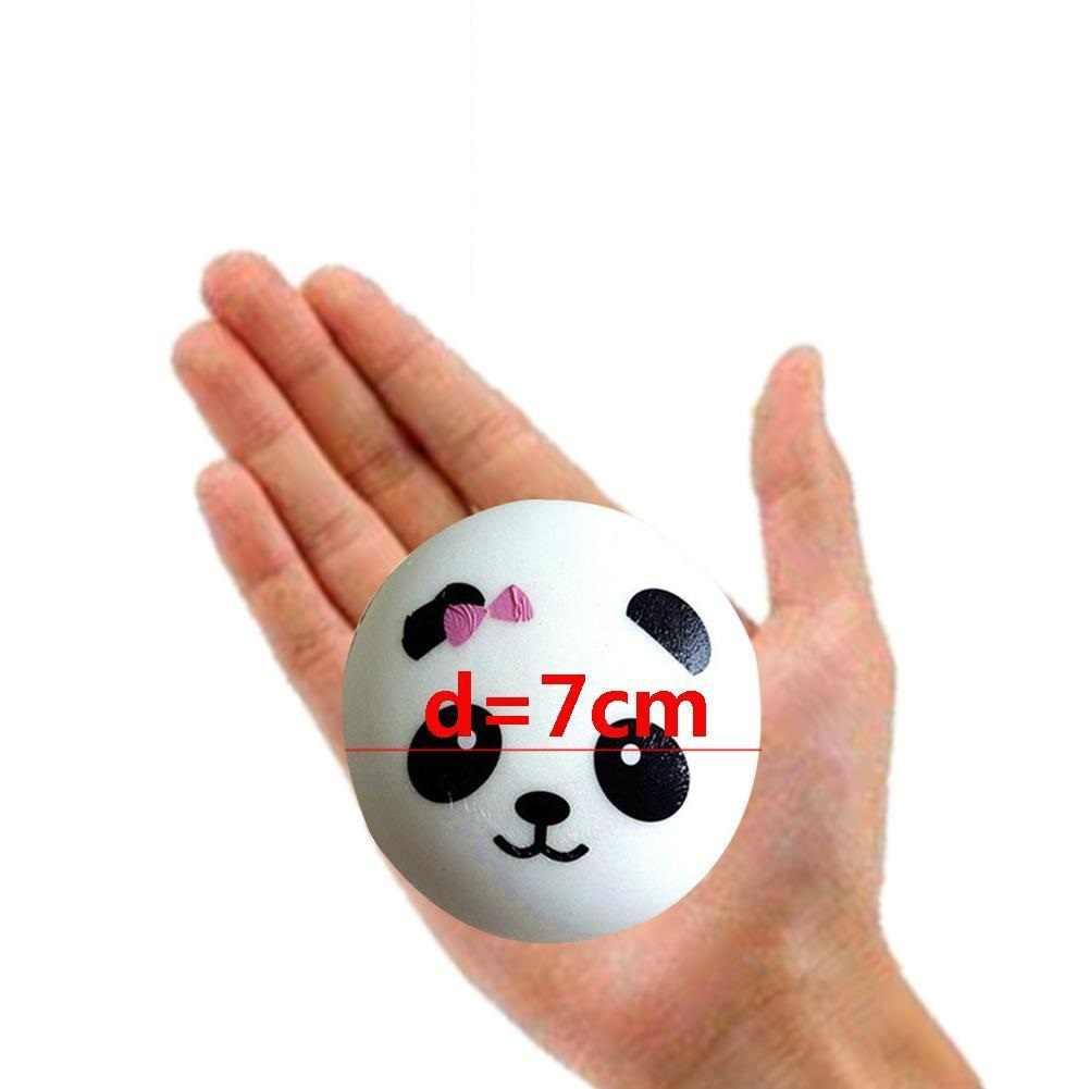 1pc 4/7/10cm Soft Squishy Squeeze Toy Panda Buns Bread Cute Animal Panda Charm Random Pattern Phone Key Bag Straps