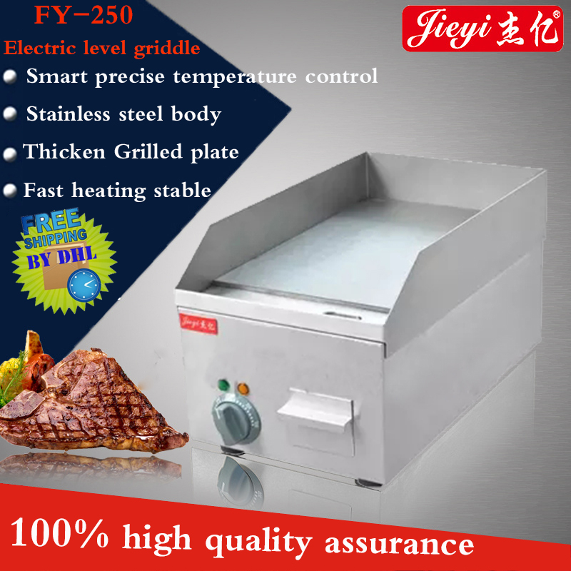 FY-250 Commercial Stainless steel Electric Griddle double plate precise temperature control 50''-300'' 220V/2000W 10oz stainless steel 110v 220v electric commercial popcorn machine with temperature control