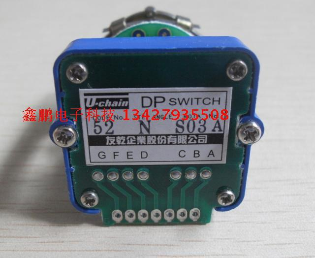 DP52N 52N  Rotary switches band switch Uchain CNC panel knob switch 52n 7oe 3m1