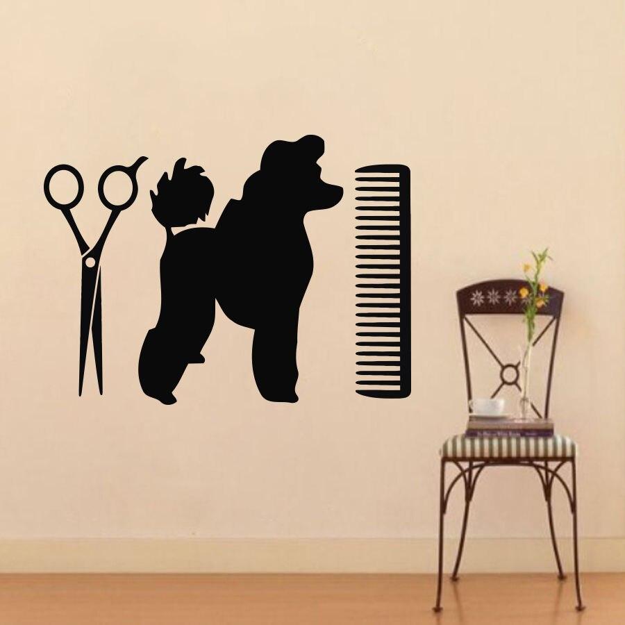 Aliexpresscom Buy Pets Vinyl Wall Stickers Removable Wall - Custom vinyl wall decals dogs