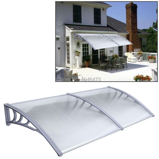 AU ZYP 2M1 Outdoor Canopy DIY Polycarbonate Sheet Durable Door Window Awning Sun Shield Patio