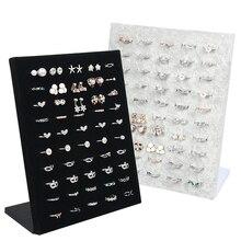 קטיפה טבעת תצוגה מחזיק מעמד עבור חנות 50 מושב עבור טבעות אחסון תכשיטי תצוגת קיר תכשיטים ארגונית מדף