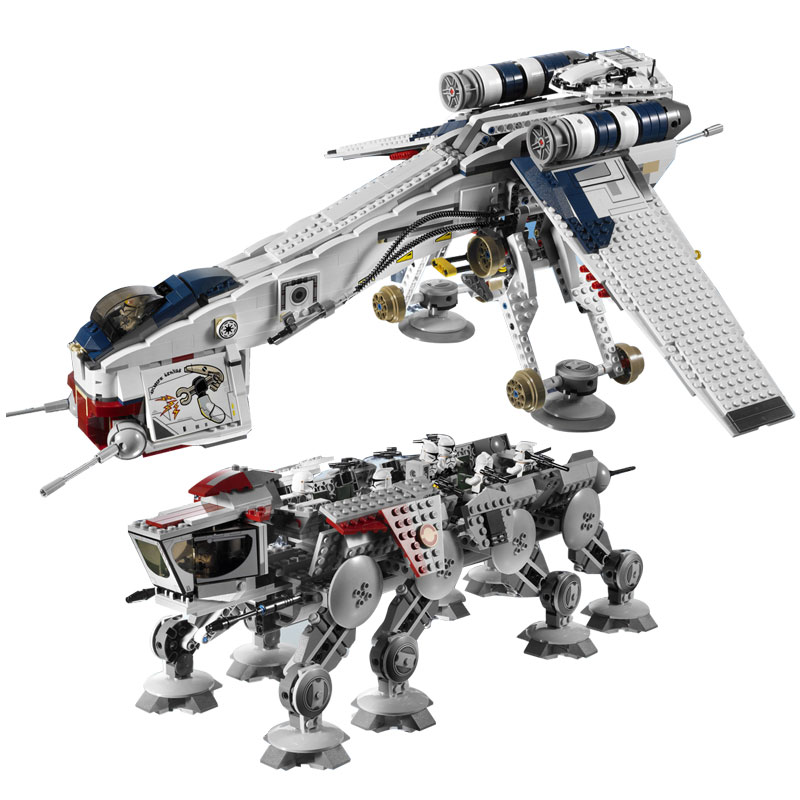 05053 New 1788Pcs Genuine Star War Series The Republic Dropship Set Building Blocks Bricks Children Toys compatible 10195