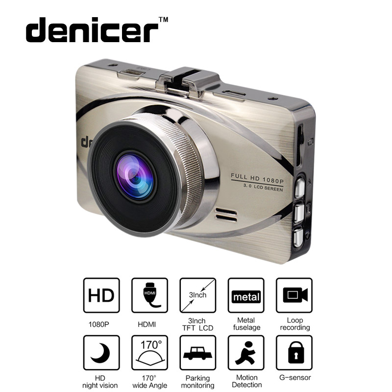 Car DVR Camera Full HD 1080P 170 Degree Wide Angle Drive Recorder 3 0 Night Vision