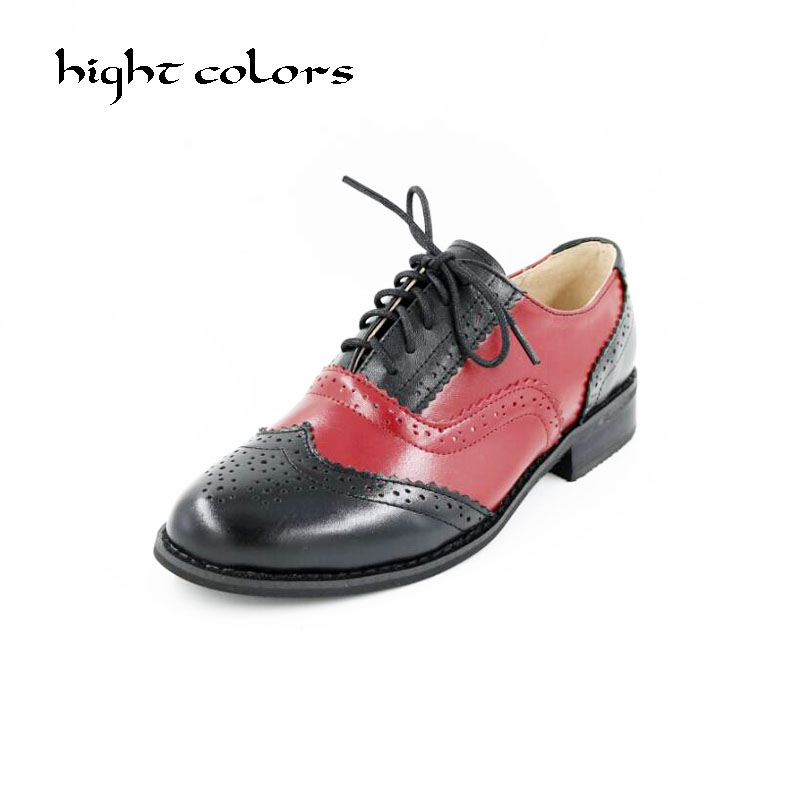 New 2018 Fashion Vintage Neutra Women Flat Lace Up Brogue Oxford Shoes For Ladies Casual Flat Shoes Size 34-43 new 2018 fashion vintage neutra women flat lace up brogue oxford shoes for ladies casual flat shoes size 34 43