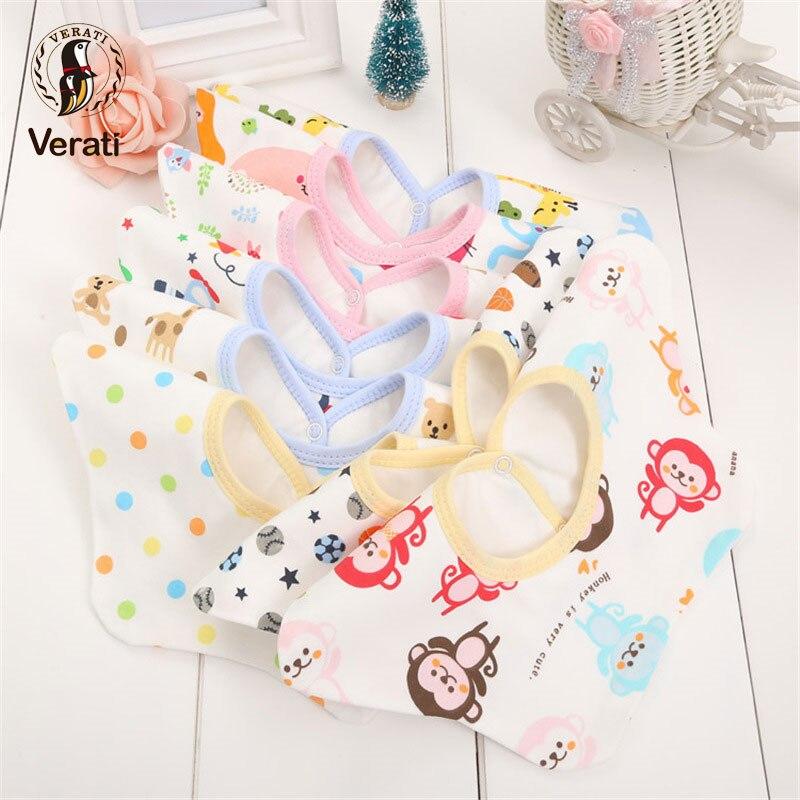 VERATI Cotton Print Baby Bib 360-degree Rotating Button Baby Cotton Waterproof Saliva Baby Accessories Towel Baby Stuff V089
