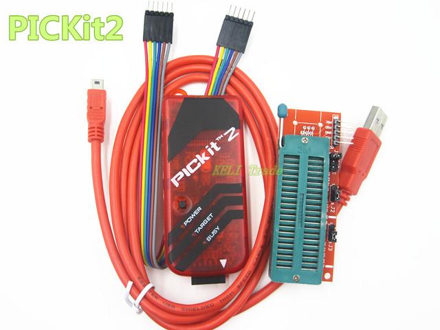 PICKIT2 Programador + Adaptador de Programação PIC ICD2 PICKit 2 PICKIT 3 Programador Universal Assento Frete Grátis