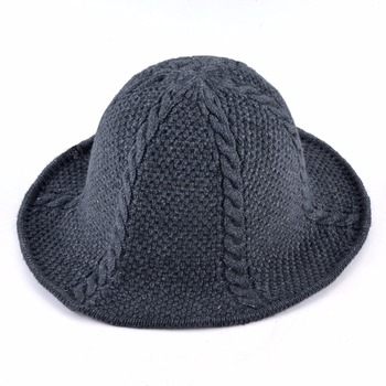 Autumn And Winter Knitted Wool Sun Cap For Men Women foldable Solid Color Floppy Hat Unisex Outdoor Casual knit Visor Sun hats 2