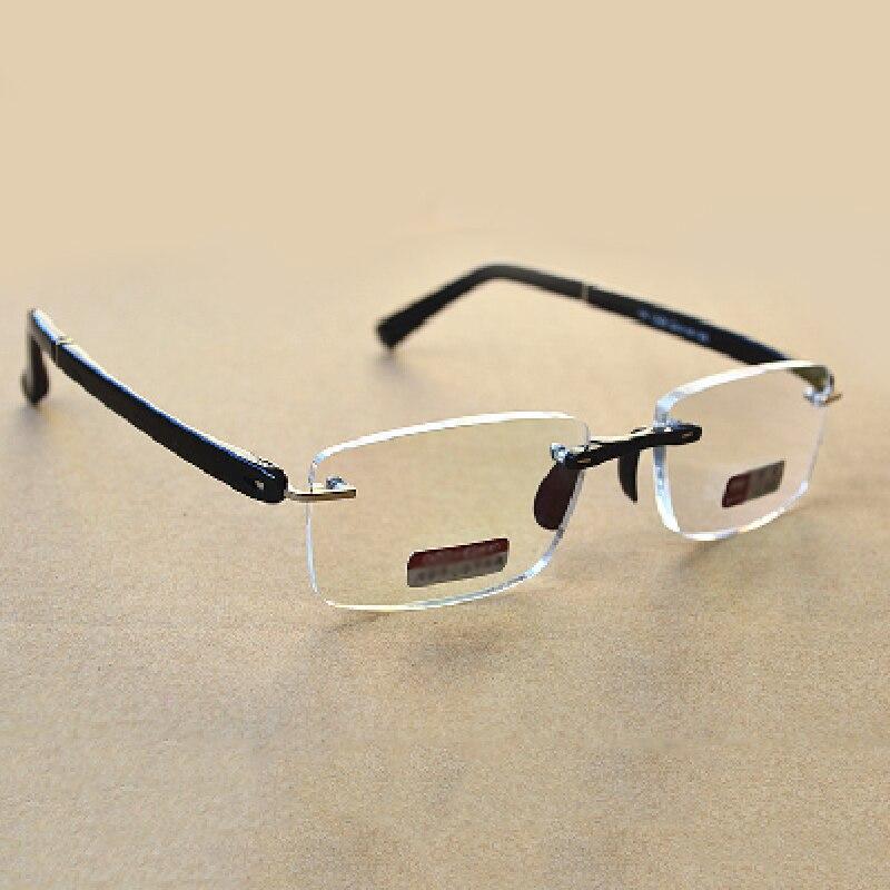 Men Women Frameless Reading Glasses Resin Lenses With PU Glasses Case Portable Eye Glasses Hyperopia R176