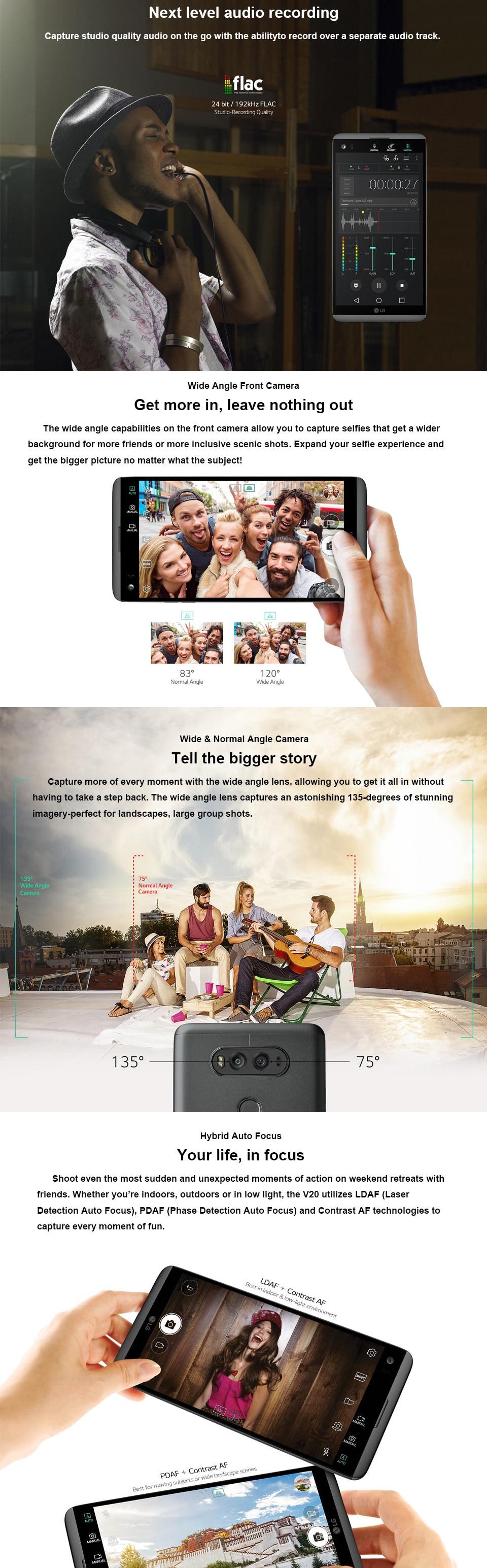 LG V20 H910N F800 разблокированный 5,7 дюймов четырехъядерный процессор 4 ГБ ОЗУ 64 Гб ПЗУ 16 МП LTE отпечаток пальца Android мобильный телефон с двумя sim-картами