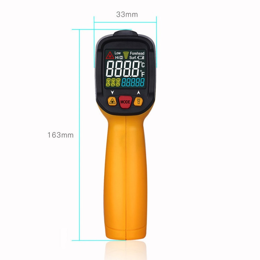 Thermomètre infrarouge sans contact Portable numérique produits électriques professionnels sécurité pour usage industriel domestique