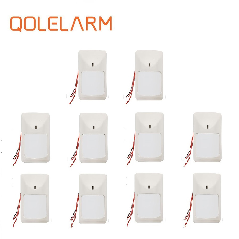 QOLELARM 1/10pcs Each Lot Wired Cable Pir Motion Detector Movement Infrared Sensor For Home Security Alarm