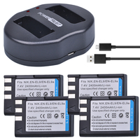 PowerTrust 4Pcs 2400mAh EN EL9 EN EL9a EN EL9 EN EL9a battery +Dual USB Charger for Nikon ENEL9 D40 D60 D40X D5000 D3000 Camera