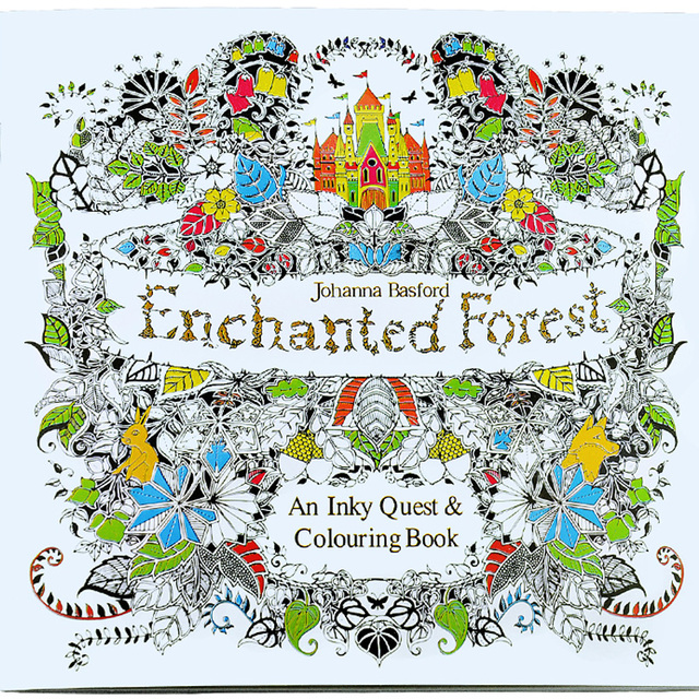 24 Pages Enchanted Forest Secret Garden Series Antistress Adult Coloring Books For Adults Iibros Livre Cloriage