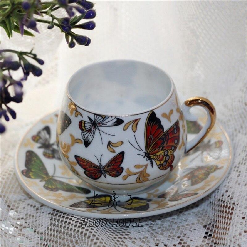 Décorations de noël pour la maison pastorale française tasse à café tasse à thé noir tasse à thé fleur