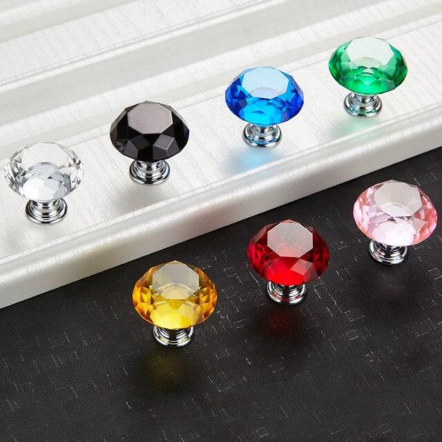 Lade Voor Kast.Diamant Vorm Kristal Handvat En Knop Lade Crystal Glass Knop En Pull