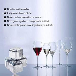 Image 4 - Xiaomi KMLONG 304 Stainless Steel Whiskey Cooler Wine Beer Cubes Chillers Physical Cooling Tool for Home Wedding