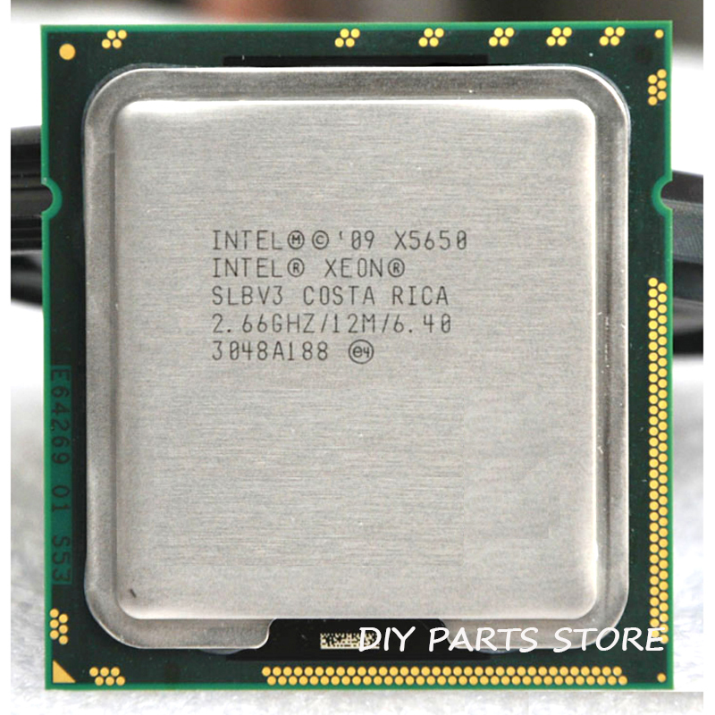 INTEL XONE X5650 Six core 2.67 MHZ LeveL2 12M 6 core WORK FOR lga 1366 montherboard