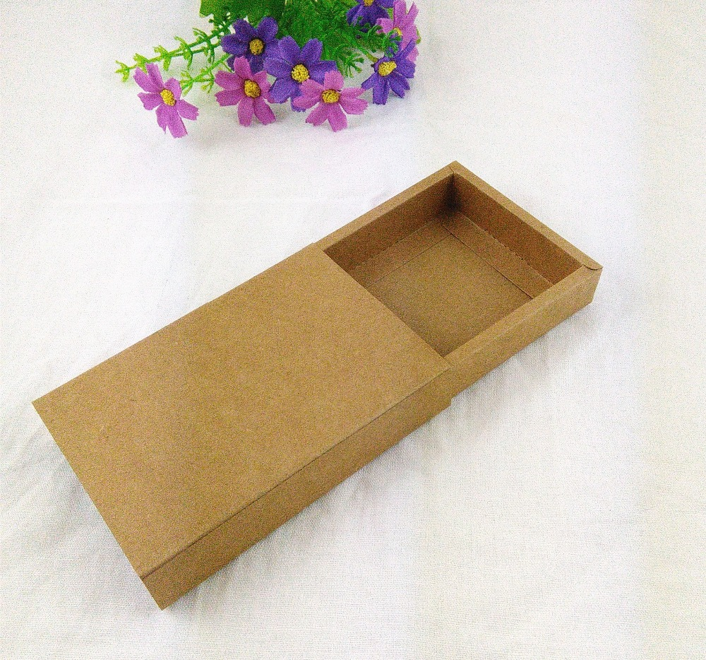 24PCS/Lot Free Shipping Gift box Jewelry box Retail  Kraft Paper Drawer Box Gift Kraft Power Bank Packaging Cardboard Boxes