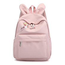 Lovely Cartoon Rabbit Ears School Bagpack For Girl Simple Design Minimalist Women Backpack Shoulder Bag Female Rucksack Mochila