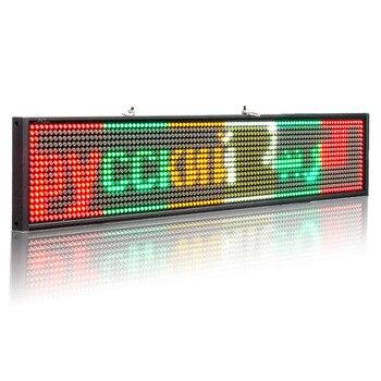 50 CENTIMETRI P5 Ha Portato Segno Programmabile Scrolling Message Display A LED Del Display Di Bordo Multi-language Tempo Di Conto Alla Rovescia Di Wifi Di Sostegno Ios