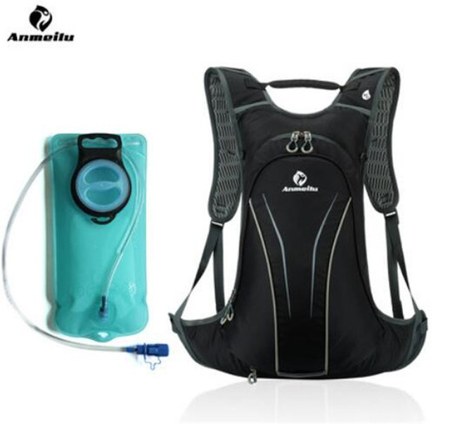 ANMEILU 20L Running Bicycle Backpack With Rain Cover Waterproof Sports Bags Rucksack Camping Hiking Climbing Optional Water Bag