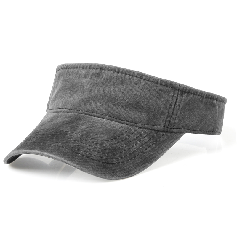 Summer Outdoor Sport Top Air Caps For Men Women Washed Denim Visor Cap Golf Sun Visors Running Hat Viseira