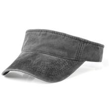 Summer Outdoor Sport Top Air Caps for Men Women Washed denim Visor Cap Golf Sun Visors Running Hat viseira