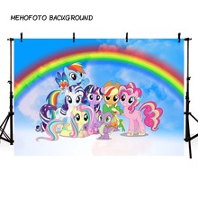 7x5ft Photography backdrop My Little Pony Rainbow photo background Children Birthday Party Custom background for photo studio 7x5ft shimmer and shine birthday party custom photo studio backdrop background banner vinyl 220cm x 150cm