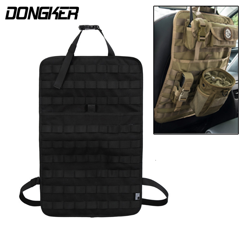 Vehicle Car MOLLE Seat Back Panel Organizer Cover Protector Universal Car Outdoor Tactical Tool 3 Colors autoyouth sports car seat covers universal fit most brand vehicle seats car seat protector interior accessories black seat cover