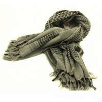 100% Cotton Grey Arab Keffiyeh Shemagh Scarf Shawl Military Tactical Scarves Desert Thickened Hijab Square Windproof Bandanas